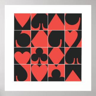 Poster de la noche del póker