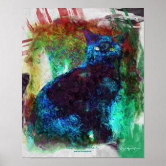 Poster de la Noir del arte abstracto charla fran