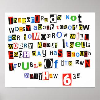 Poster de la nota de rescate del 6:34 de Matthew