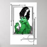Poster de la novia del art déco