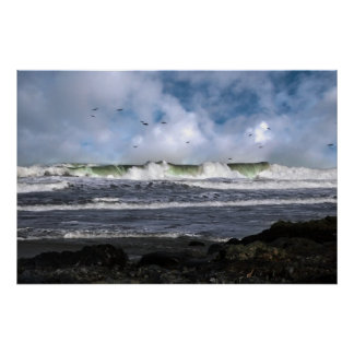 poster de la onda de marea