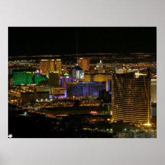 Poster de la opinión aérea de la tira de Las Vegas