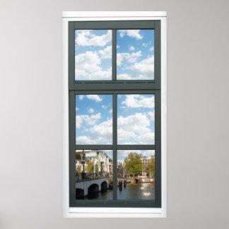 Poster de la opinión de la ventana de la