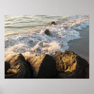 Poster de la orilla de la playa de Madeira