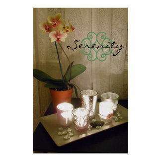 Poster de la orquídea de la serenidad