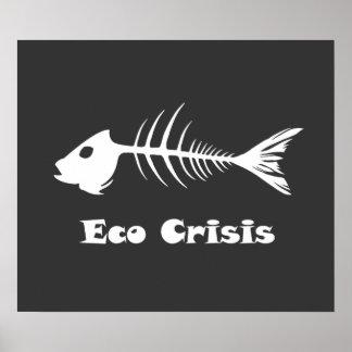 Poster de la oscuridad de la crisis de Eco de la e