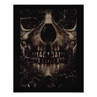 Poster de la oscuridad del cráneo impresiones fotográficas