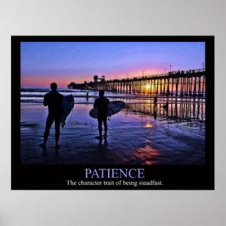 Poster de la paciencia de la persona que practica