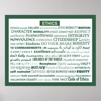 """Poster de la palabra de los éticas "" Póster"