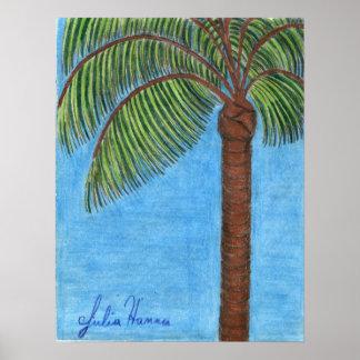 Poster de la palmera de Julia Hanna
