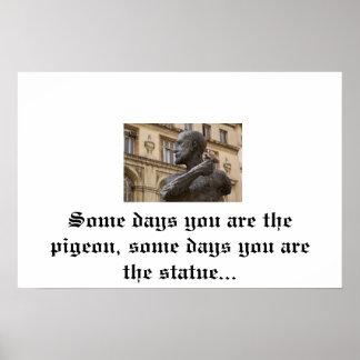 Poster de la paloma y de la estatua