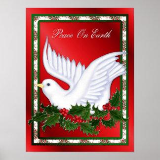 Poster de la paloma y del acebo