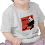 Poster de la panda camisetas
