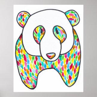 Poster de la panda de la comodidad por Megaflora