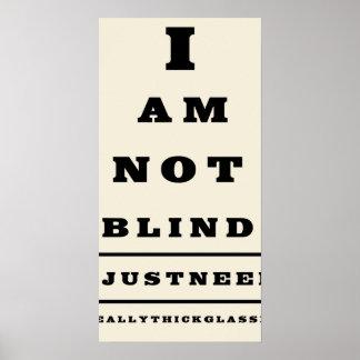 Poster de la pared de la carta de ojo de la divers