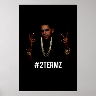 Poster de la pared de Obama 2Termz