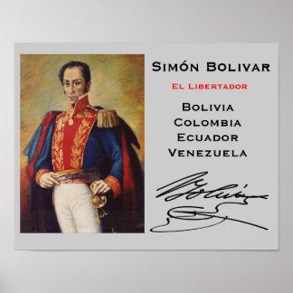 Poster de la pared de Simón Bolivar*