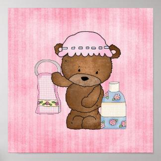 Poster de la pared del dibujo animado del oso del