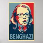 "Poster de la parodia de Hillary Clinton ""Bengasi"""