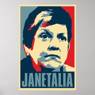 """Poster de la parodia de Janet Napolitano """"Janetali"""