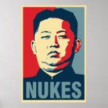 "Poster de la parodia de Obama de las ""armas nuclea Póster"