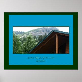 Poster de la Parque-Montaña de Estes y del tejado
