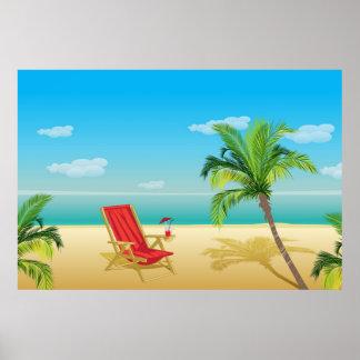 Poster de la partida del paraíso de la playa