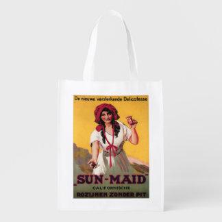 Poster de la pasa de California de la Sun-Criada Bolsas De La Compra