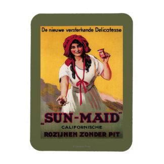 Poster de la pasa de California de la Sun-Criada Imán Foto Rectangular
