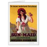 Poster de la pasa de California de la Sun-Criada Tarjeta De Felicitación