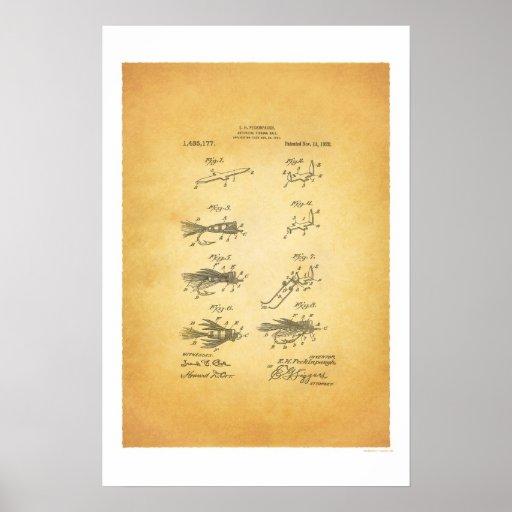 Poster de la patente de los E.E.U.U. de la pesca c