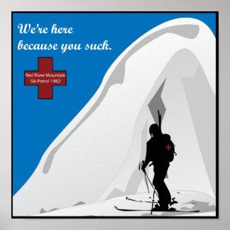 poster de la patrulla del esquí