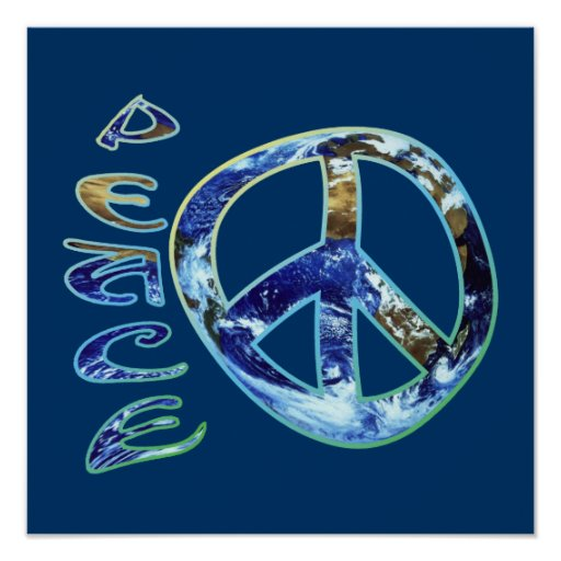 Poster de la paz de la tierra
