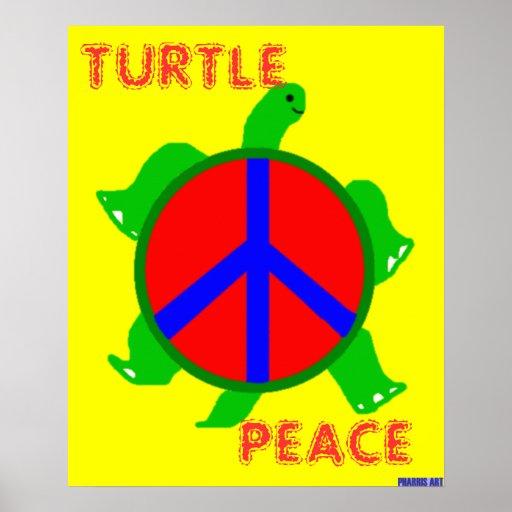 Poster de la paz de la tortuga