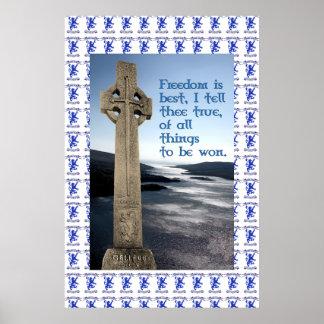Poster de la paz de Robroyston del monumento de