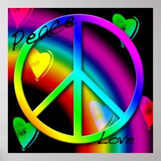 Poster de la paz y del amor