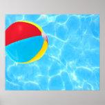 Poster de la pelota de playa