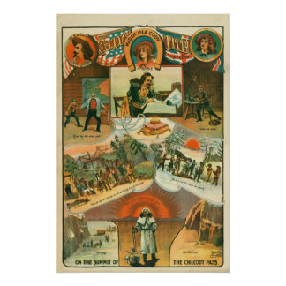 """Poster """"de la pepita de Klondyke"""", CA 1898 Póster"""
