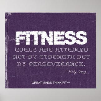 Poster de la perseverencia para el éxito de la apt