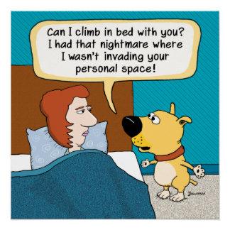 Poster de la pesadilla del perro divertido