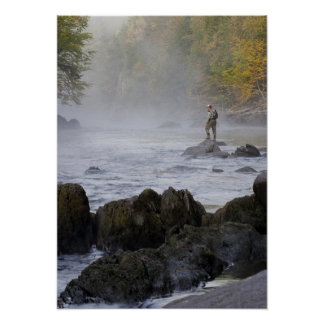 Poster de la pesca con mosca