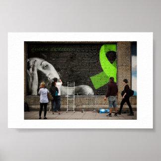 Poster de la pintada de la conciencia de Lyme