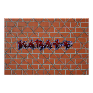 Poster de la pintada del karate