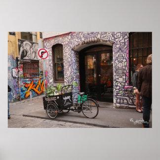 Poster de la pintada y de la bici