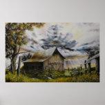 Poster de la pintura al óleo de la tormenta del ve