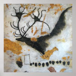 Poster de la pintura de cuevas de Lascaus