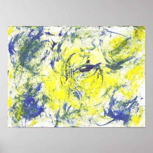 Poster de la pintura de la acuarela del ciclo vita