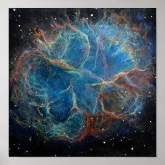 Poster de la pintura del arte del espacio de la ne