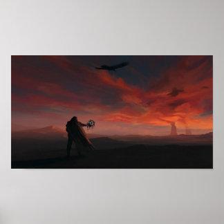 """""""Poster de la pintura del coloso de la puesta del  Póster"""