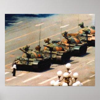Poster de la pintura del hombre del tanque póster